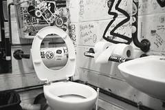 (Pentastar In The Style Of Demons) Tags: olympus superzoom70 kodak tmax400 bathroom london film filmisnotdead ishootfilm iso400 bw