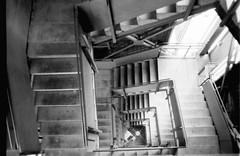 Treppenaufgang I (ambient norge) Tags: analog schwarzweis blackwhite black white praktica mtl50 kleinbild fomapan100