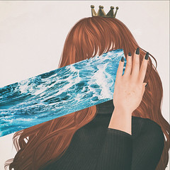 🍎 drown. (Apple aka Ossia) Tags: inspired concept art maitrey slink truth pixicat crown ginger redhead photography photograph portrait photoshop blogger blogging blog