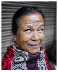 Nepali woman (posterboy2007) Tags: kathmandu nepal nepali woman hindu portrait street sony