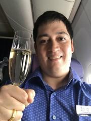That is me (Khunpaul3) Tags: thai airways b777200er hstjt tg621 aircraft aeroplane airplane aviation boeing royal silk class avgeek selfie cheers champange