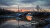 Keravanjoki (Miika Myllykangas) Tags: water tree brigde sunrise canon eos 100d 1855mm landscape color contrast river kerava suomi finland sky
