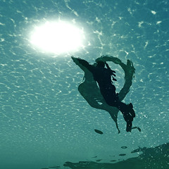 Reaching for the Surface (Stachmo) Tags: reaching for surface underwater sea ocean swimming digital art reshade video game gaming screenshot just cause 3 sun surreal water theme