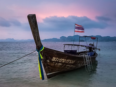 Long Boat near Krabi (Erik Pronske) Tags: water railaybeach indianocean krabi andamansea thailand