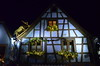 I Haz A Reindeer On My Roof [Kaysersberg - 6 December 2017] (Doc. Ing.) Tags: 2017 france alsace kaysersberg town christmas decorations christmasdecorations lights facade halftimberedhouse wood architecture halftimbered night nighttime blue upper rhine