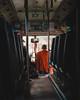 Public Transport (Lomasi_) Tags: monk public transport orange bus light shadows buddhism buddha park buddhapark vientiane laos nikon d5100 licht schatten