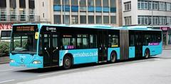 Arriva Midlands 5004 BX04MXH on service 80 Leicester City Centre - University - Halls of Residence. (Gobbiner) Tags: mercedesbenz ma10 citaro leicester university 5004 london bx04mxh midlands arrivabus