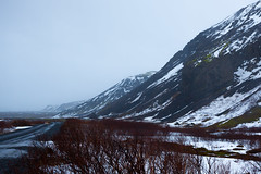Distringam (Tom Whitfield) Tags: iceland icelandic ice frozen snow winter wind rain cold wet dark grey sky landscape photography canon eos 5d mkii mark ii 1740mm l f40 tom whitfield mountains hills volcano volcanic lake sea shore beach rocky boulders