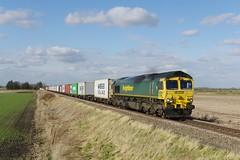 'FL' 66548. (scud153) Tags: generalmotorsemd coco diesellocomotive class665 66548 freightliner liner intermodal leonardsuwc barway cambridgeshireuk