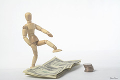 Stepping Over Dollars to Pick Up Dimes (Tyson J) Tags: tyson nikon d7100 steppingoverdollarstopickupdimes money dollar dimes dollars cash woody white green personalfinance business budget economy