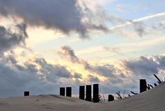 Un atardecer sin poder ver el sol. (Montse Arnau) Tags: atardecerentarifa puestadesolnublada nubesdeatardecer ocaso sunset crepuscolo anochecer en la playa