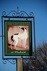 Pub sign for the Greyhound. (Peter Anthony Gorman) Tags: pubsigns greyhoundpub londonpubs woolwichpubs