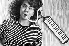 Melodica | 26/365 (Cassidy Walker) Tags: person cy365 potd 365 365project girl teen glasses blackandwhite bandw bw instrument melodica stripes 365the2018edition 3652018 day26365 26jan18