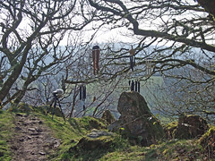Recording wind chimes at Hunter's Tor, Teign Gorge (Philip_Goddard) Tags: europe unitedkingdom britain british britishisles greatbritain uk england southwestengland devon dartmoornationalpark drewsteignton teignvalley teigngorge hunterstor recording sonypcmm10 windchimes