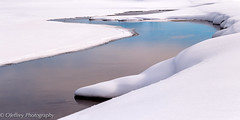 Partly Cloudy (OJeffrey Photography) Tags: river yellowstoneriver snow winter reflection panorama pano ojeffreyphotography ojeffrey jeffowens nikon d500