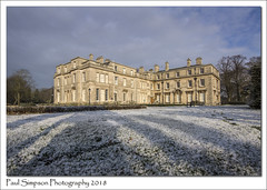 Normanby Hall in the winter (Paul Simpson Photography) Tags: february2018 normanbyhall paulsimpsonphotography imagesof imageof snow sunshine weather snowy winter winterweather hall parkland england photoof photosof footprints footprintsinthesnow footprintsinsnow statelyhouse historic old sonya77 earlymorningphotography