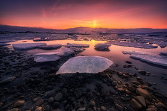 Elements (ALFONSO1979 ) Tags: new sun sunset sunrise travel colors landscape iceland red rocks ice clouds autum river nice amazing beautiful moon orange summer trees flickr light paysage winter