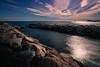Nature is land, air and sea (Lluvia Fotografia) Tags: sky rocks longexposure canon nature seascape sunshine breakwater beach barcelona
