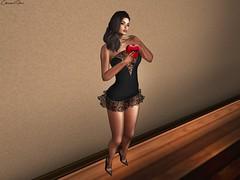 Love Ya (chanelfive5) Tags: sexyprincess minidress pumps black blogger secondlife virtualworld
