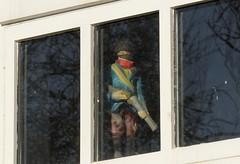 OnWatch (Tony Tooth) Tags: nikon d7100 sigma 50500mm model soldier modelsoldier watch onwatch watchful window creepy musketeer upperhulme staffs staffordshire odd strange unusual