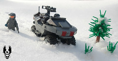 Halo 5: ONI Warthog (♕ Spencer) Tags: halo 5 warthog oni lego spencer brickarms brickforge snow