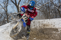 Frozen Toe Motocross (Kyle William Russell) Tags: ice snow frozen cold freezing fox shift helmet gloves extreme sport racing moto motocross motocycle white red blue dirt mud grime sharp clear tire tires outfit uniform rider amazing fun incredible turn sports enduro seven 77 bike kyle russell photography action excitement