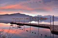 日月潭.蔣公碼頭~日出雲彩~ 新年快樂 Sun moon lake Sunrise (Shang-fu Dai) Tags: 台灣 taiwan 日月潭 南投 魚池 nikon d800e sunrise 日出 afs1635mmf4 sky 雲彩 landscape formosa dawn 碼頭 蔣公碼頭 sunmoonlake clouds