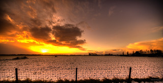The Dutch capture their sunrises and put them behind fences.