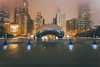 The Bean - Millennium Park - Chicago, IL (garyhebding) Tags: chicago millenniumpark thebean cloudgate chicagoarchitecture urban cityscape foggychicago cityfog