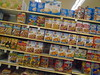 DSC03043 (classroomcamera) Tags: grocery groceries display cereal junk food treat treats snack snacks breakfast sugar buy buying buyer shop shopping shopper box boxes white kelloggs general mills oatmeal nutritious sugary healthy angle