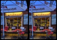 Fish restaurant 3-D / Stereoscopy / CrossView / Stereoscopy / HDR / Raw (Stereotron) Tags: sachsenanhalt saxonyanhalt ostfalen harz mountains gebirge ostfalia hardt hart hercynia harzgau quedlinburg castle gate tor bogen europe germany deutschland architecture crosseye crosseyed crossview xview cross eye pair freeview sidebyside sbs kreuzblick 3d 3dphoto 3dstereo 3rddimension spatial stereo stereo3d stereophoto stereophotography stereoscopic stereoscopy stereotron threedimensional stereoview stereophotomaker stereophotograph 3dpicture 3dglasses 3dimage twin canon eos 550d yongnuo radio transmitter remote control synchron kitlens 1855mm tonemapping hdr hdri raw