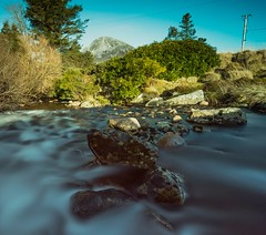Glenthornan River Rock (ClassicAngles) Tags: 2018 bridge ireland water northwest splash dunlewy mounterrigal flowing trees gcc splashes errigal sigma10to20mm nikond3400 lazyshutters wideangle classicangles nikon rocky mountains telegraphpoles longexposure river slow donegal bushes bluesky flickr flickrtravelaward mistywaters sky longexpo countydonegal ie