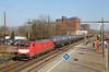 20180222 DBC 189 025 + ketels, Eindhoven (Bert Hollander) Tags: eindhoven ehv dbcargo lok 189025 eloc es64f4 locomotief br189 rood ketelwagens ermewa gatx zon cargo goederentrein dbc trein 45970knkfhz