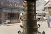 anodized pots are doing acrobatics (kasa51) Tags: pot alumite hardwarestore edotokyoarchitecturalmuseum 荒物屋 江戸東京たてもの園 鍋 アルマイト acrobatics balancing