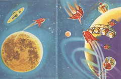 Spaceship-to-the-Moon2 (Count_Strad) Tags: books nonfiction kids scifi vintage old novel
