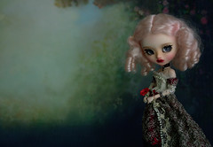 Great-great aunt Florentia (The Migratory Dreamery) Tags: pullip custompullip artdoll pullipcosmicjupi karolinfelix oilpainting old vintage 18thcentury 19thcentury victorian family ancestors mystery dark tale story painting painter woman pose portrait pink groove junplanning pureneemo dalende poppy rewigged rechipped mohair
