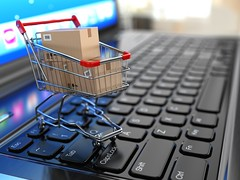 E-commerce. Shopping cart with cardboard boxes on laptop. 3d (jesus180883) Tags: 3d activity basket business buy carrying cart commercial computer concepts consumerism ecommerce eeconomy empty gift handle home hypermarket internet isolated laptop macro market merchandise metal monitor nobody objects page paying pc price push render retail selling shiny shopping silver store technology threedimensional trading web white