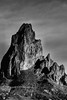 2017 Agathla Peak In Monochrome (DrLensCap) Tags: agathla peak in kayenta arizona monochrome az mountain robert kramer bw black white and