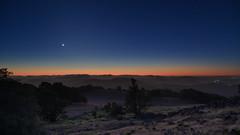 Evening Twilight (fksr) Tags: dusk twilight evening night sky stars crescentmoon horizon landscape mountburdell hills trees novato marincounty california astrometrydotnet:id=nova2454106 astrometrydotnet:status=solved