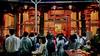 學生的畢業旅行 Student's graduation trip (葉 正道 Ben(busy)) Tags: 艋舺龍山寺 艋舺 longshantemple taipei 台北 台灣 taiwan 人 people temple 寺廟 gold 金色 night 夜景 學生 student