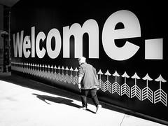 Welcome. (Hans-Jörg Aleff) Tags: losangeles blackwhite streetphotography welcome california usa