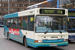 2246 X246 HJA (Cumberland Patriot) Tags: arriva north west england pte greater manchester passenger executive dennis dart slf super low floor plaxton pointer ii two 2246 x246hja single deck saloon buses derv diesel engine road vehicle omnibus piccadilly gardens station transportation