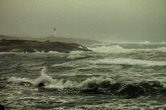 Stormy Day (langdon10) Tags: atlanticocean canada canon70d lighthouse novascotia peggyscove shoreline storm surf ocean outdoors waves winter