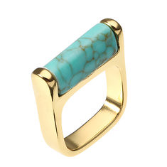 JASSY® 18K Gold Plated Blue Turquoise Ring Vintage Simple Style Fine Jewelry for Women (1176239) #Banggood (SuperDeals.BG) Tags: superdeals banggood jewelry watch jassy® 18k gold plated blue turquoise ring vintage simple style fine for women 1176239
