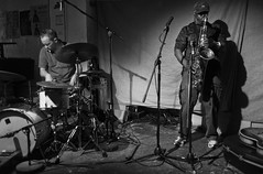 Joe McPhee / Paal Nilssen-Love (duo) with John Russell at Cafe OTO (Dawid Laskowski) Tags: select black gig live music musician nikon photography show stage london dalston cafeoto joemcphee paalnilssenlove duo johnrussell cafe oto jazz jazzdrums