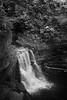 Waterfall (Seeing Visions) Tags: 2017 unitedstates us newyork ny ithaca cornelluniversity fallcreek forest water waterfall cascade cliff stone monochrome bw raymondfujioka