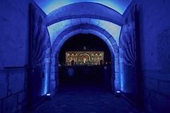 Murten Licht Festival 2018 (Moymoy117) Tags: flickrtravelaward murten morat a99m2 20mm lichtfestival sonyflickraward blue lumière sony tor porte collège fribourg