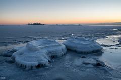Today's sunset (explored) (- Man from the North -) Tags: sunset ice sky sundown finland suomi westcoast winter seascape frozen scene scenery explored inexplore
