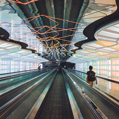 Pathways (spaceabstract) Tags: abstract airport art chicago cinematic city film leading lines neon ohare path photography sony square street symmetry travel urban vsco