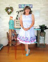 "Blue Dress (Trixy Deans) Tags: cd cute crossdresser crossdressing classy classic hot heels highheels heelssexy high heels"" tgirl transgendered transvestite transsexual tranny trixydeans tgirls transvesite"